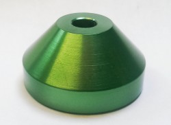 Aluminium 45rpm Centre Adaptor Green