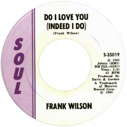 Northern Soul Classics & Rarities - Label Sticker - Frank Wilson
