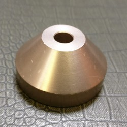 Aluminium 45rpm Centre Adaptor Light Copper