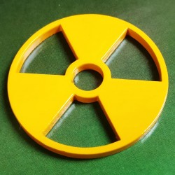 Coloured Steel 45 Adaptor Yellow Radioactive