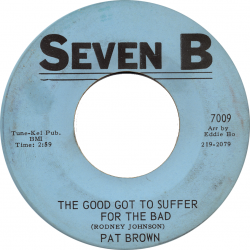Northern Soul Classics & Rarities - Label Sticker - Pat Brown