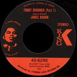 Deep Funk Rarities - Label Sticker - James Brown