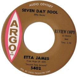 RnB Classics & Rarities - Label Sticker - Etta James